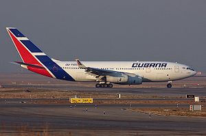 Cubana de Aviación - Cubana IL-96-300 in Madrid, Spain, 2007