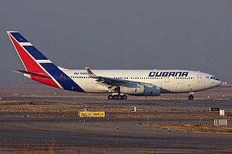 Cubana de Aviación - Cubana IL-96-300 in Madrid, Spain, 2007