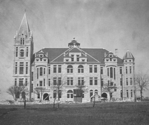 Southwestern University - The Roy and Lillie Cullen Building shortly after completion