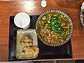 Curry udon and chicken tempura at Ibuki Udon, Kichijoji (36247435321).jpg
