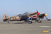 Curtiss P-40E AK933 N94466 Hamilton AFB 7Sep75 (Peter B. Lewis) (20986487993).jpg