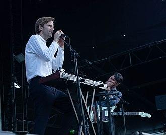 Cut Copy - Cut Copy performing at Falls Festival in Byron Bay, 2018.