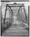 DECK AND PORTAL, VIEW SOUTH - Knightly Bridge, Spanning Middle River at State Route 778, Knightly, Augusta County, VA HAER VA,8-KNIGH.V,1-9.tif
