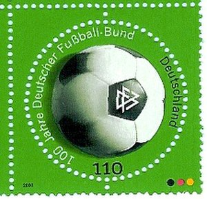 German Football Association - 100 year commemorative stamp from 2000