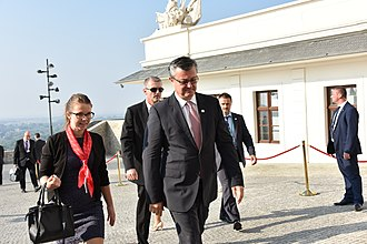 Tihomir Orešković - Orešković arriving to the Bratislava Summit on 16 September 2016