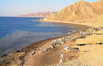 Dahab - The famous blue hole of Dahab.