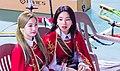 Dahyun and Chaeyoung at Idol Star Athletics Championships on January 7, 2019 (1).jpg