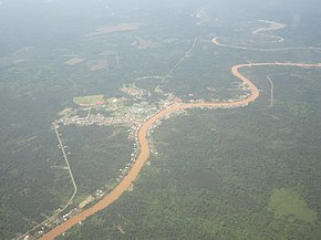 Aerial view of Dalat town. The river seen here is the Oya river.