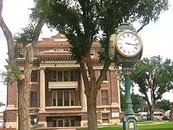 The Dallam County Courthouse in downtown Dalhart, constructed in 1922