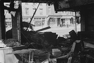 On the Mindless Menace of Violence - Image: Damage to a store following the riots in Washington, D.C., April 16, 1968