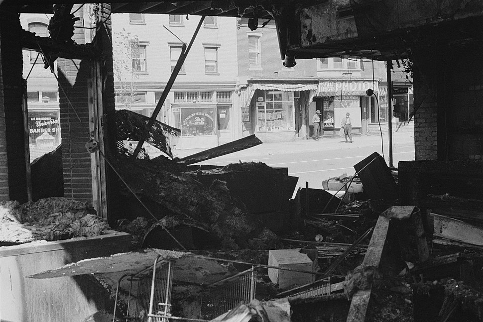 Damage to a store following the riots in Washington, D.C., April 16, 1968