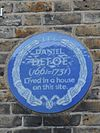 Daniel Defoe (1661-1731) lived in a house on this site..jpg
