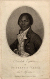 Equiano by Daniel Orme, frontispiece of his autobiography (1789)
