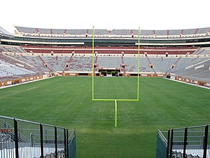 Darrell K Royal–Texas Memorial Stadium - The north end zone after stadium expansion (before the 2008 season).
