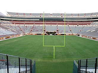 2008 Texas Longhorns football team - The North end zone after stadium expansion, shown during the summer prior to the 2008 season