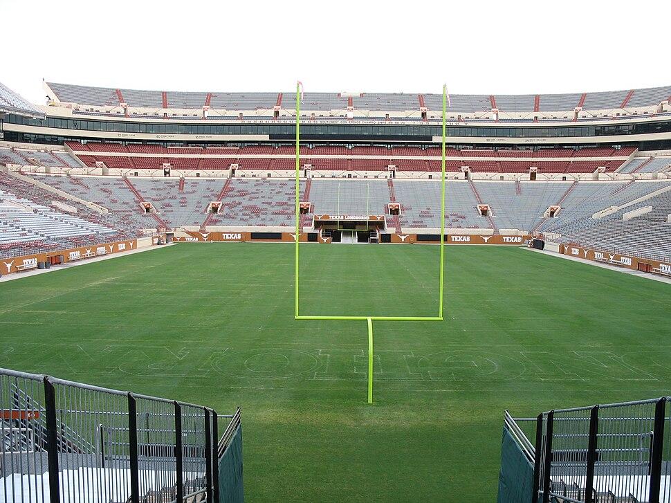 Darrell k royal texas memorial stadium north end zone
