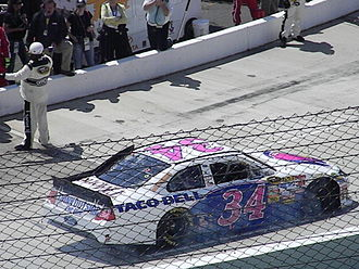 Front Row Motorsports - The No. 34 driven by David Gilliland at Martinsville Speedway in 2011.