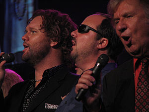 Bill Gaither (gospel singer) - David Phelps, Gordon Mote, Bill Gaither (left to right) in April 2009