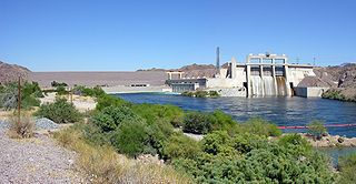 Davis Dam dam in Clark County, Nevada / Mohave County, Arizona, USA