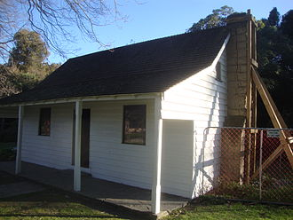 Jane Deans - Deans Cottage in 2011 showing earthquake damage