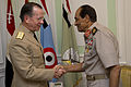 Defense.gov News Photo 110608-N-TT977-034 - Chairman of the Joint Chiefs of Staff Adm. Mike Mullen greets Chairman of the Supreme Council of the Armed Forces of Egypt Field Marshal Mohamed.jpg