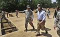 Defense.gov News Photo 1200504-D-NI589-1594 - Secretary of Defense Leon E. Panetta observes soldiers in basic training running the obstacle course at Fort Benning Ga. on May 4 2012. Panetta.jpg