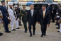 Defense.gov News Photo 120613-D-TT977-074 - Secretary of Defense Leon E. Panetta escorts South Korea s Minister of National Defense Kim Kwan-jin through an honor cordon and into the Pentagon on.jpg