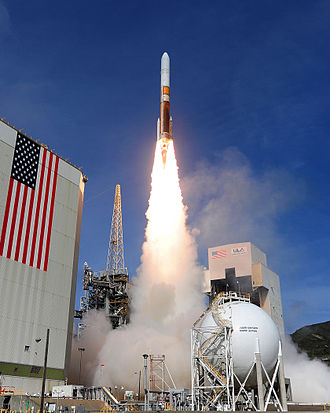 Fourteenth Air Force - Image: Delta IV Medium+ Launch 2012 04 03