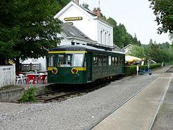 Denee-Maredsous Station with former belgian railcar 4614.jpg