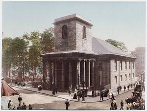 William Hazlitt (Unitarian minister) - King's Chapel, Boston, in 1900.