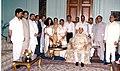 Devi Prasad Bagrodia and dignitaries during release of his book 'Jyoti Prabha'.jpg