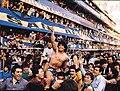 Diego Maradona celebrando la obtención del Torneo Metropolitano de 1981.jpg