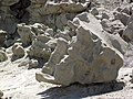 Differentially cemented & eroded sandstone (member C, Uinta Formation, Eocene; Fantasy Canyon, Utah, USA) 11 (24818239386).jpg