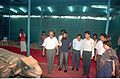 Dignitaries Watching Ankylosaurus - Dinosaurs Alive Exhibition - Science City - Calcutta 1995-06-15 114.JPG