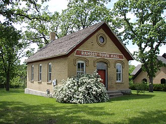 Ramsey, Minnesota - District No. 28 School, later the Ramsey Town Hall, is listed on the National Register of Historic Places.