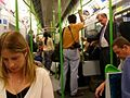 District Line train in the evening rushhour between Blackfriars and Temple.jpg