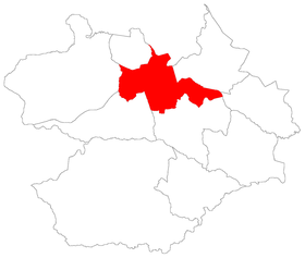 Carte du district de Sede à Santa Maria