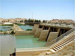Diyala Weir dam in 90km northeast of Baghdad, Iraq, Diyala Governorate, Iraq