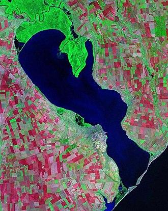 Liman (landform) - Dniester Liman forming the Dniester river estuary