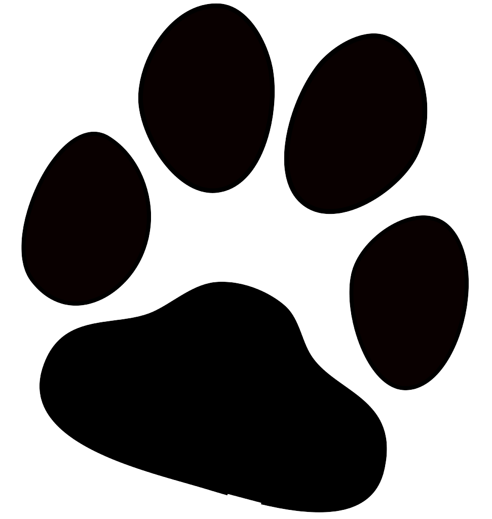 Free Clipart Cat Paw Prints