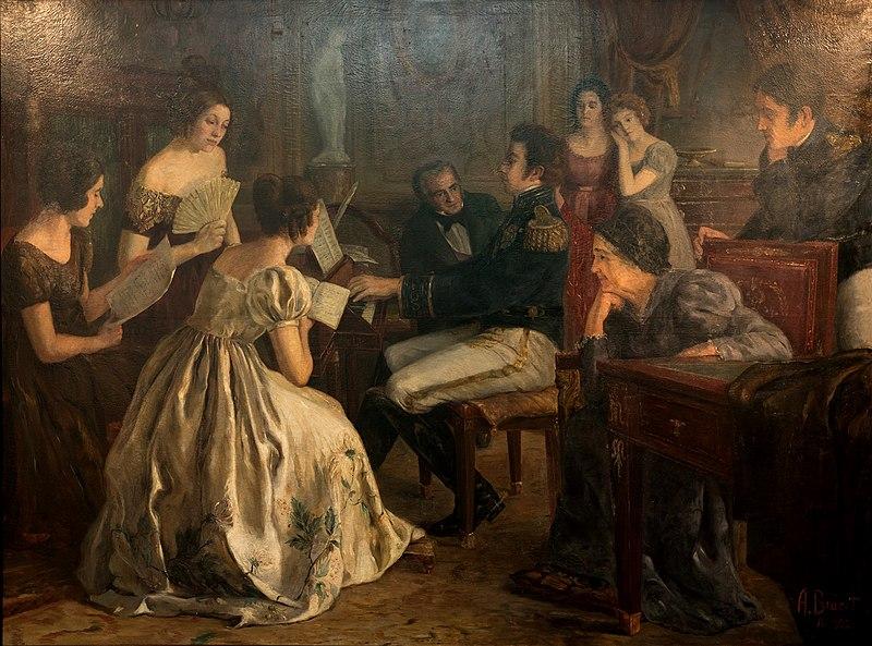 Ficheiro:Dom Pedro compondo hino da independencia.jpg