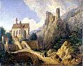 Domenico Quaglio, Landschaft bei Kobern an der Mosel, 1827.jpg