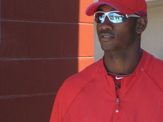 Domonic Brown - Brown during 2010 spring training