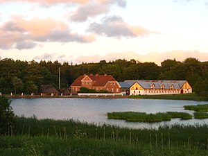 The Museums in Brønderslev Municipality - Dorf Møllegård and the Mill-lake, one of the three museums of The Museums in Brønderlev Municipality.