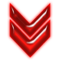 Double arrow neon red down.png