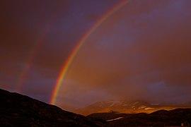 Double rainbow over Storelvvatnet i Sulitjelma.jpg