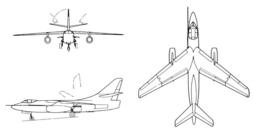Douglas A-3B Skywarrior 3-view drawing.png