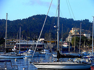 Downtown Monterey and Monterey Harbor as seen ...