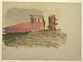 Drawing, Rapid sketch of the Temple at Corinth, 1869 (CH 18197625).jpg