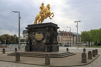Poles in Germany - Monument of King Augustus II the Strong in Dresden